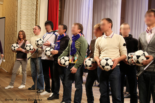 Встреча команды с болельщиками.