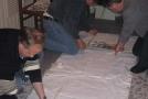 Саххит, Торч и Евгений делают трафореты