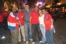 Andy с болельщиками Коста-Рики