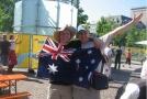Andy с болельщиками сборной Австралии