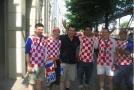 Andy с Хорватскими болельщиками