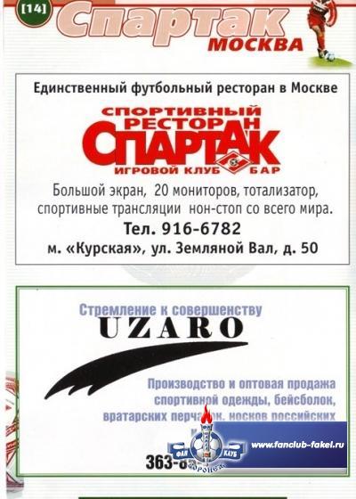 Спартак(Москва)-Факел
