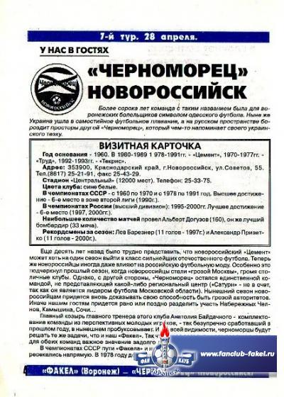 Факел-Черноморец(Новороссийск)