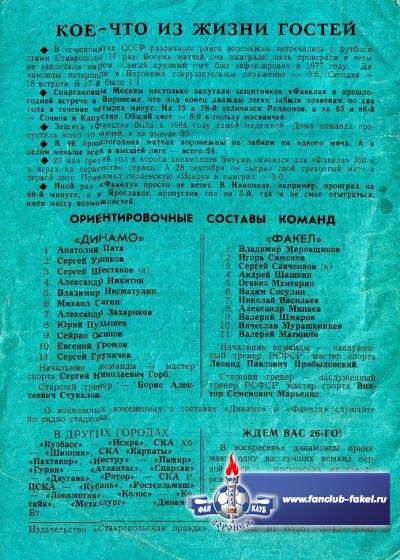 Динамо(Ставрополь)-Факел